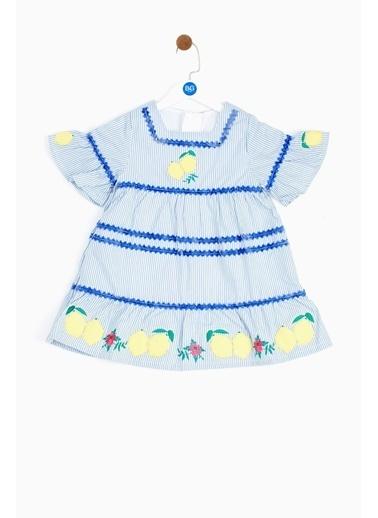 BG Baby Kız Bebek Çizgili Elbise 19SS2BG2921 Renkli